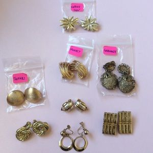 Set of 8 Vintage Clip-on Earrings